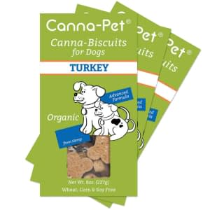 Package: Canna-Pet Organic Biscuits - 3 Boxes Advanced Formula Turkey