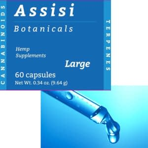 Package: Assisi 60 Large capsules + 10ml Advanced Max Liquid