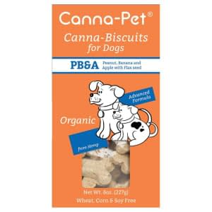 Canna-Biscuits for Dogs: Advanced Formula PB&A (Peanut, Banana & Apple) - Organic & Vegan