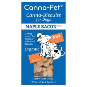 Canna-Biscuits for Dogs: Advanced MaxCBD Maple Bacon - Organic